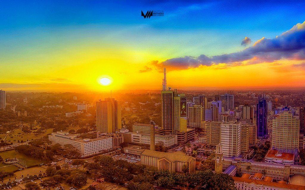 Nairobi sun set photo - most beautiful cities in Africa