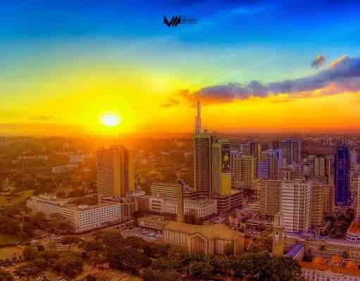 Nairobi sun set photo - most beautiful cities in Africa