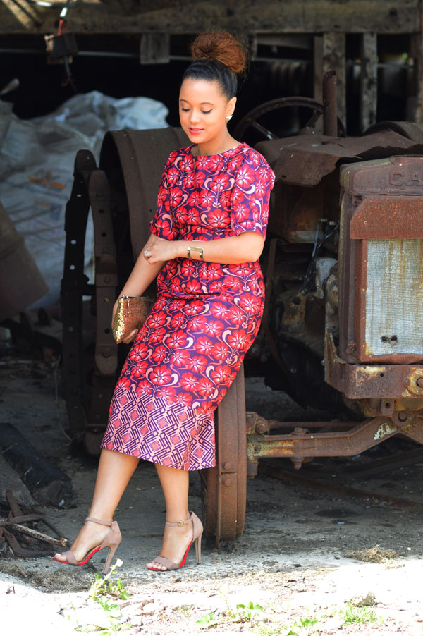 Beautiful african print dress 2018